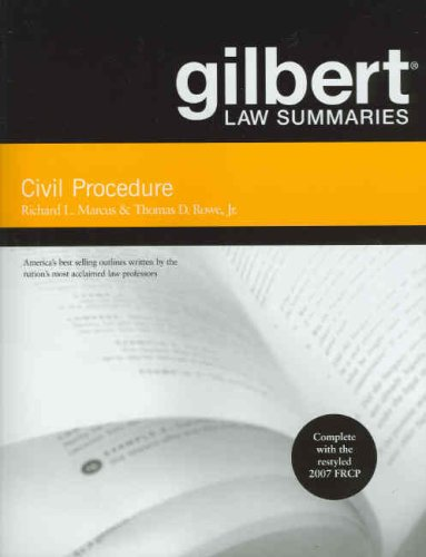 Gilbert Law Summaries on Civil Procedure  17th 2008 (Revised) edition cover