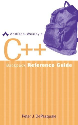 Addison-Wesley's C++ Backpack Reference Guide   2006 edition cover