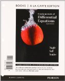 Fundamentals of Differential Equations, Books a la Carte Edition  8th 2012 edition cover