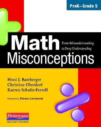 Math Misconceptions, PreK-Grade 5 From Misunderstanding to Deep Understanding  2010 edition cover