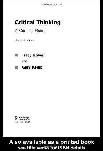 Critical Thinking A Concise Guide 2nd 2004 (Revised) edition cover