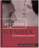 Readings in Gender Communication   2004 9780534581138 Front Cover