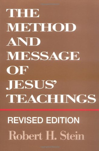 Method and Message of Jesus' Teachings   1994 (Revised) edition cover