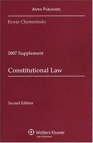 Constitutional Law Case 2007  Supplement edition cover