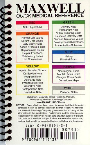 Maxwell Quick Medical Reference 5th 2006 edition cover