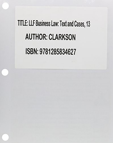 Business Law + Mindtap Business Law, 2-term Access: Text and Cases  2014 edition cover