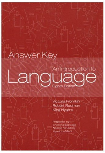 Introduction to Language Answer Key 1st 2007 edition cover