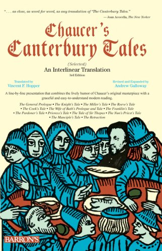 Chaucer's Canterbury Tales An Interlinear Translation 3rd 2012 (Revised) edition cover