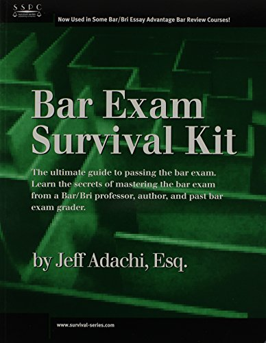 Bar Exam Survival Kit   2012 (Revised) 9781882278138 Front Cover