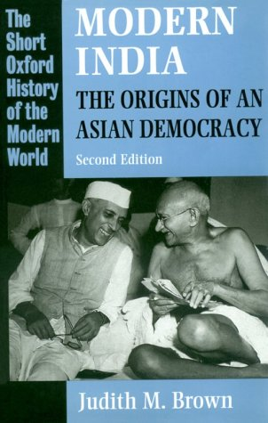 Modern India The Origins of an Asian Democracy 2nd 1994 (Revised) edition cover