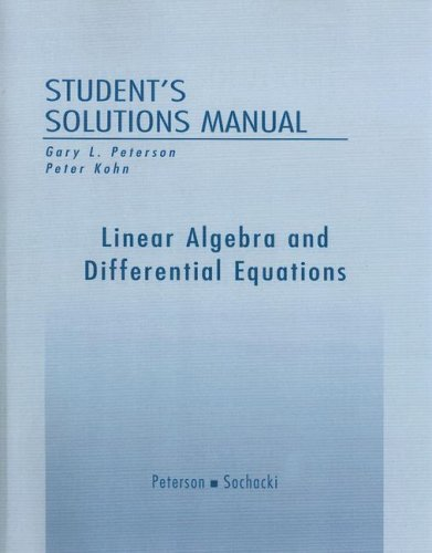 Linear Algebra and Differential Equations   2002 edition cover
