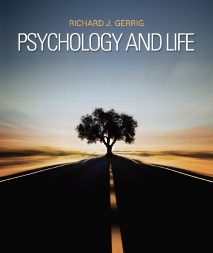 Psychology and Life  20th 2013 (Revised) 9780205859139 Front Cover