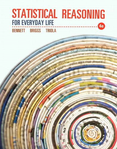 Statistical Reasoning for Everyday Life  4th 2014 edition cover