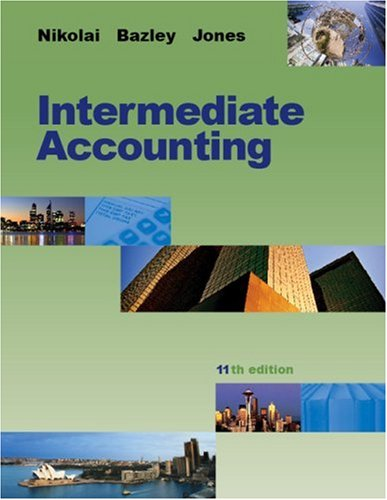 Intermediate Accounting  11th 2010 edition cover