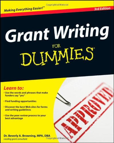 Grant Writing for Dummies  3rd 2009 edition cover