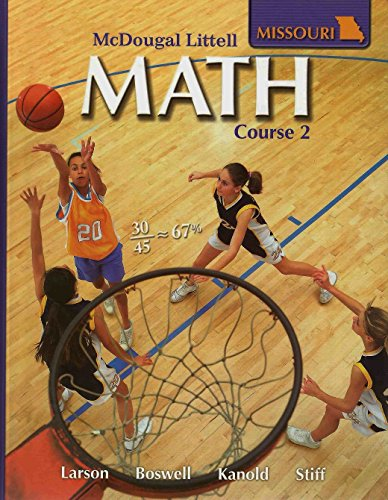 McDougal Littell Middle School Math Missouri Student Edition Course 2 2008  2007 9780618888139 Front Cover