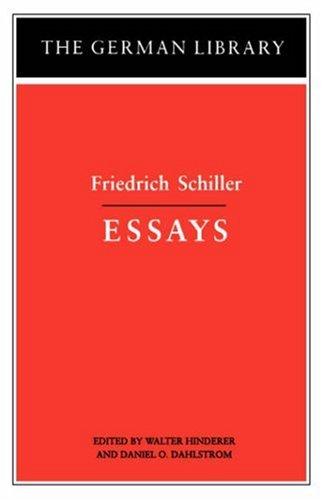 Friedrich Schiller - Essays   2005 edition cover