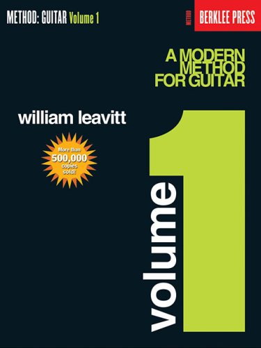Modern Method for Guitar Guitar Technique Reprint  edition cover