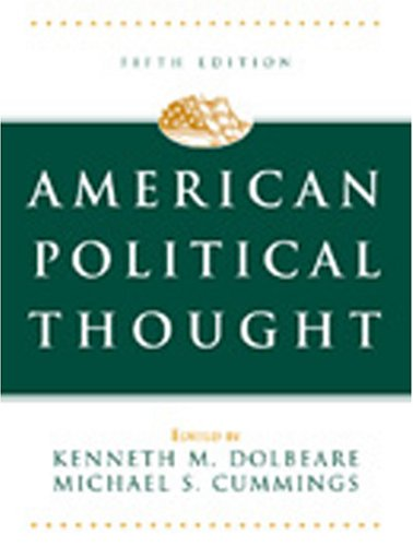 American Political Thought  5th 2004 (Revised) edition cover