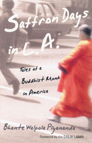 Saffron Days in L. A. Tales of a Buddhist Monk in America  2001 edition cover