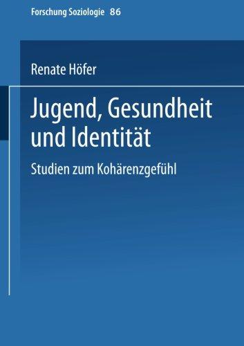 Jugend, Gesundheit und Identitat Studien Zum Koharenzgefuhl  2000 9783810027139 Front Cover