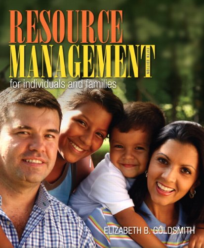 Resource Management for Individuals and Families  5th 2013 (Revised) 9780132955140 Front Cover