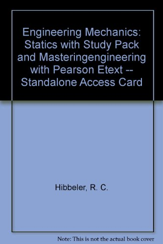 Engineering Mechanics Statics with Study Pack and MasteringEngineering with Pearson EText -- Standalone Access Card 13th 2013 edition cover
