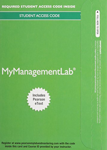2014 MyManagementLab with Pearson EText -- Access Card -- for Understanding and Managing Organizational Behavior  6th 2012 9780133792140 Front Cover