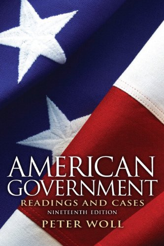 American Government Readings and Cases 19th 2012 (Revised) edition cover