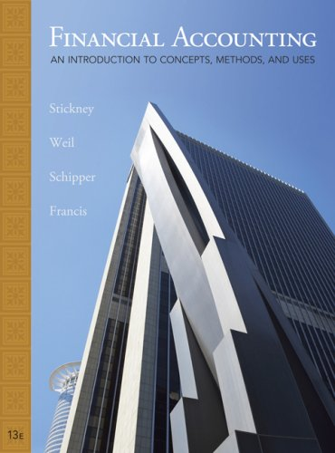 Financial Accounting An Introduction to Concepts, Methods and Uses 13th 2010 edition cover