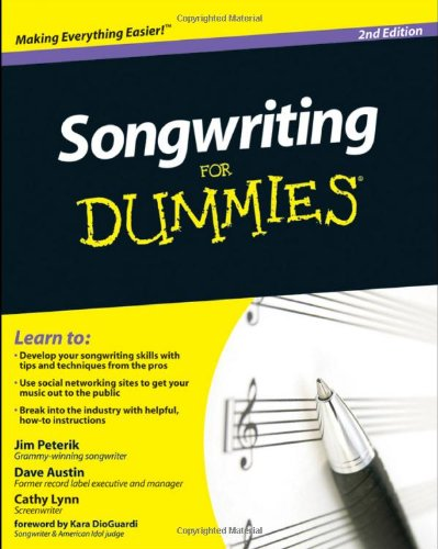 Songwriting for Dummies�  2nd 2010 edition cover