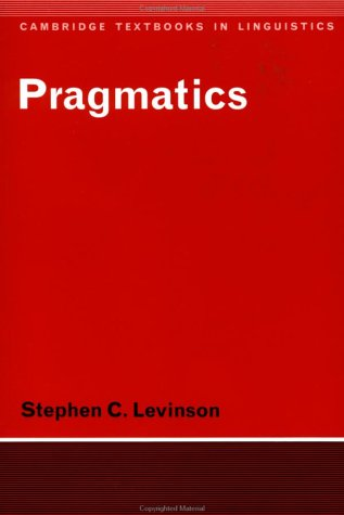 Pragmatics   1983 9780521294140 Front Cover