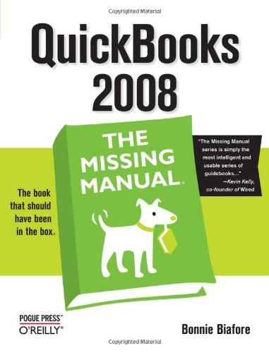 QuickBooks 2008   2007 9780596515140 Front Cover