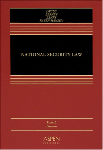 National Security Law  4th 2007 (Revised) edition cover