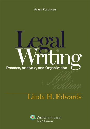 Legal Writing and Analysis 5e  5th 2010 (Revised) edition cover