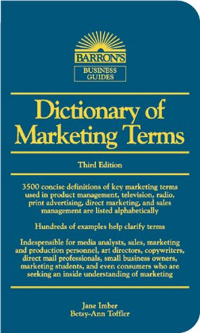 Dictionary of Marketing Terms  3rd 2000 9780764112140 Front Cover