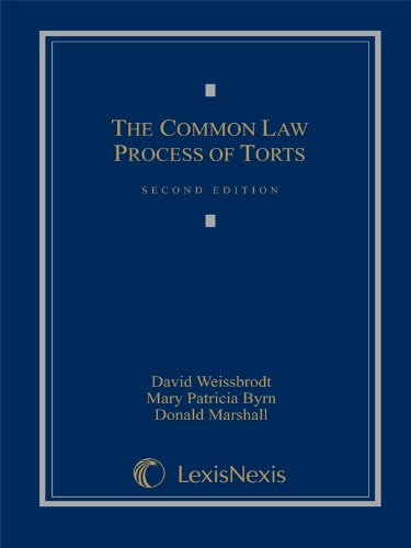 COMMON LAW PROCESS OF TORTS    N/A 9780769849140 Front Cover