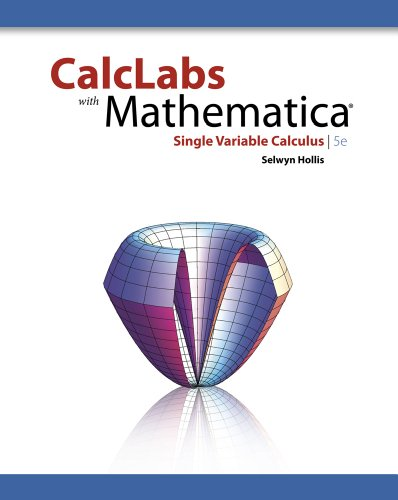 CalcLabs with Mathematica for Single Variable Calculus  5th 2012 edition cover