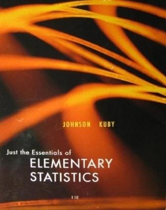 Acp Preset Just the Essentials of Elementary Stats 11th 9781133270140 Front Cover