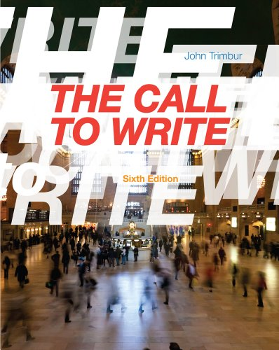 Call to Write  6th 2014 edition cover