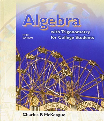 Algebra with Trigonometry for College Students  5th 2002 edition cover