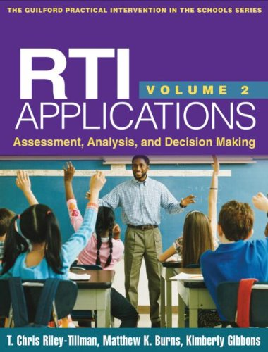 RTI Applications, Volume 2 Assessment, Analysis, and Decision Making  2013 edition cover