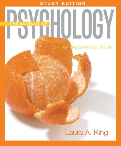 Science of Psychology An Appreciative View  2010 (Student Manual, Study Guide, etc.) edition cover