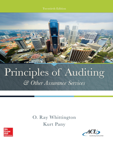 Principles of Auditing & Other Assurance Services 20th 2015 9780077729141 Front Cover