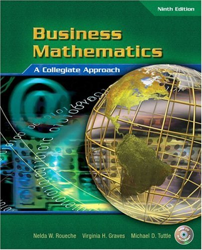 Business Mathematics A Collegiate Approach 9th 2005 (Revised) edition cover