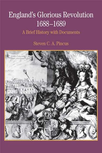 England's Glorious Revolution, 1688-1689 A Brief History with Documents  2006 edition cover