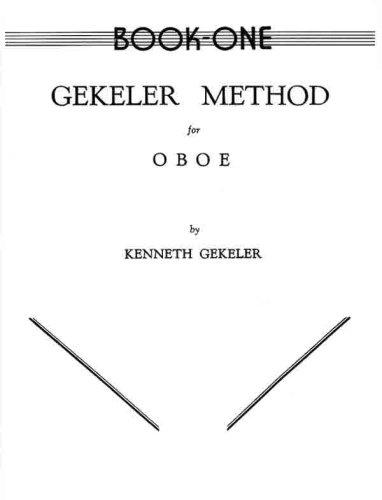 Gekeler Method for Oboe, Bk 1   1985 edition cover