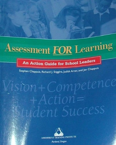 Assessment for Learning An Action Guide for School Leaders  2003 9780965510141 Front Cover