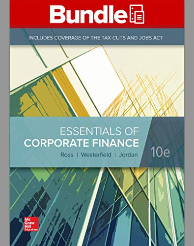 GEN COMBO LOOSELEAF ESSENTIALS of CORPORATE FINANCE; CONNECT Access Card  10th 9781260696141 Front Cover