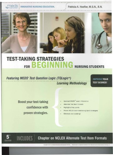 Test-Taking Strategies for the Beginning Nursing Students 1st edition cover